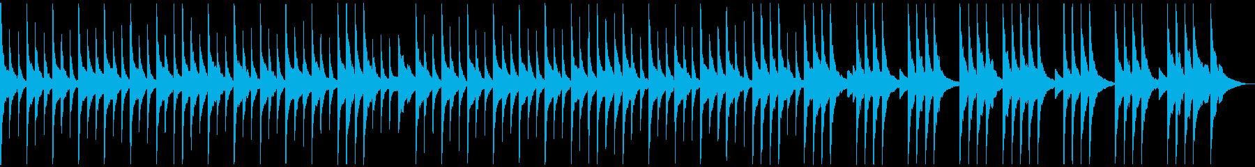 オルゴール風 ワルツの再生済みの波形