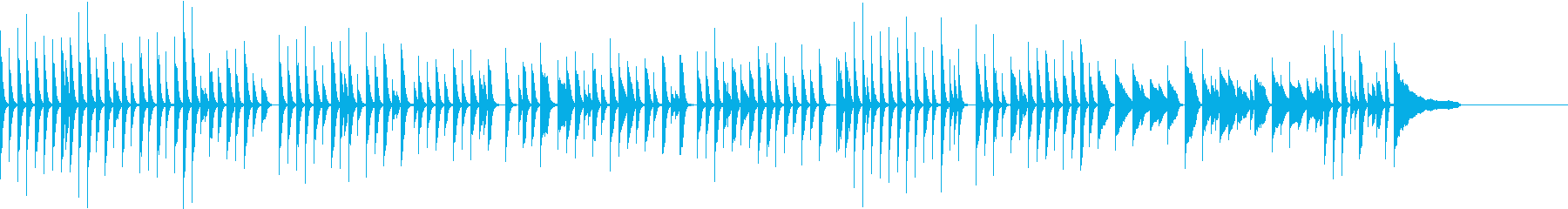 たんたんとした日常会話に合う音楽の再生済みの波形