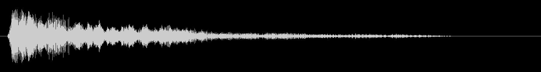 キュキューンと聞こえる高めの効果音の未再生の波形
