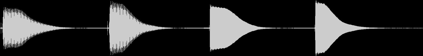 トーンベースシングルヒットの未再生の波形