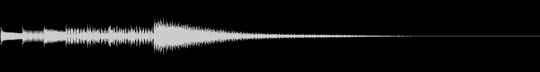 カリンバのシンプルなサウンドロゴの未再生の波形