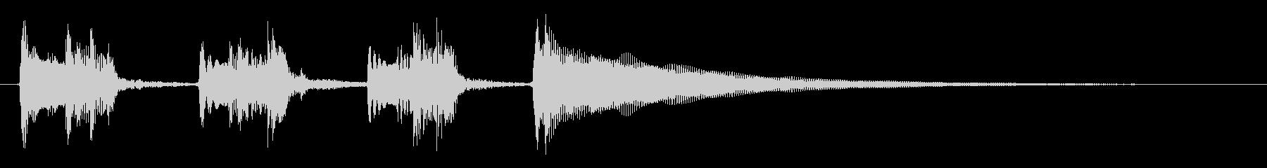 ★前向きで明るいアコギのジングル/生音の未再生の波形