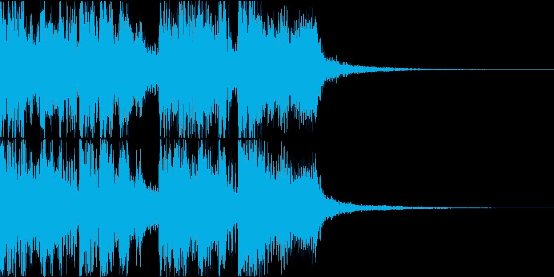 三味線・箏・尺八・和太鼓・ジングル06の再生済みの波形