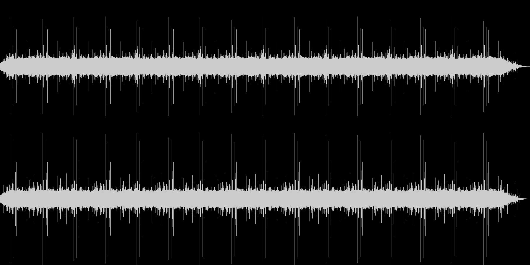 湖のほとりでレコーディングされた自然音の未再生の波形