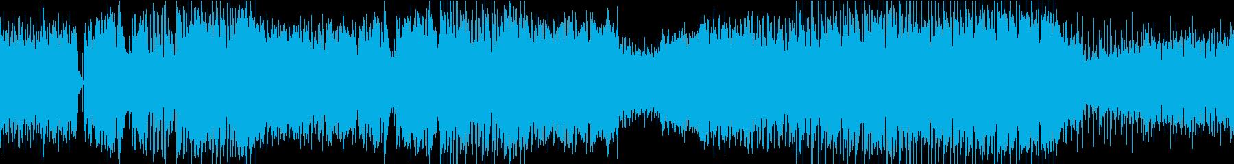 転がるビー玉・ピンボールをイメージした曲の再生済みの波形