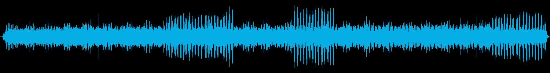 鈴虫と雨音の再生済みの波形