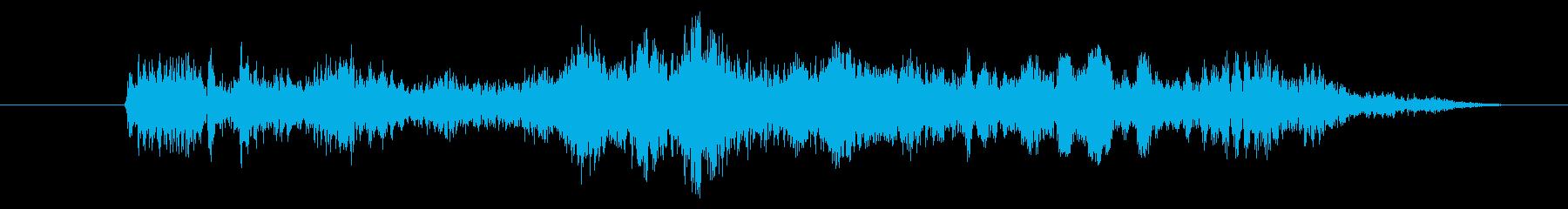 猛獣の唸り声3の再生済みの波形