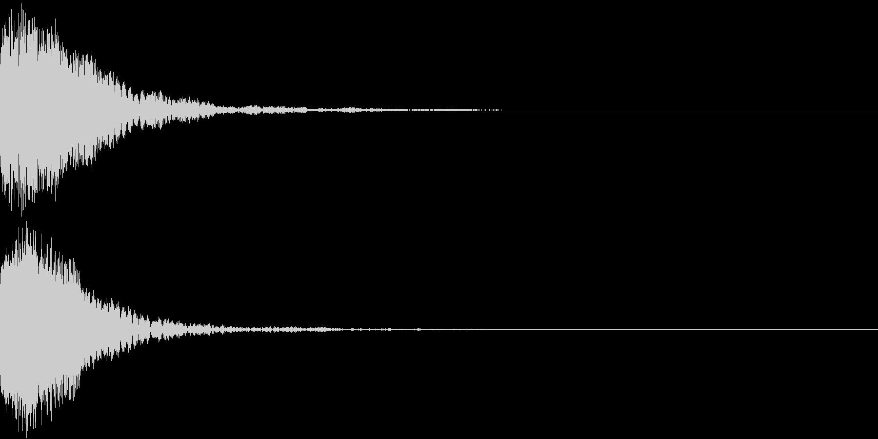刀 剣 カキーン シャキーン 目立つ30の未再生の波形