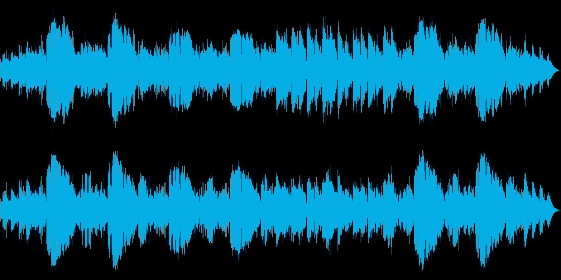 心を落ち着かせる環境音楽の再生済みの波形
