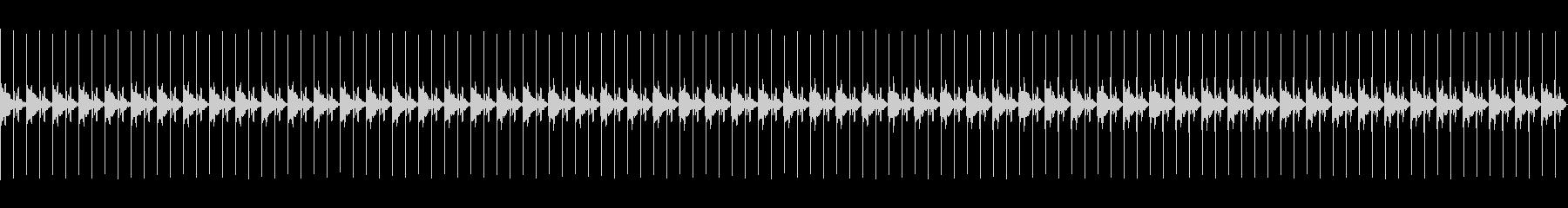 柔らかい電子音の秒針1分間の未再生の波形