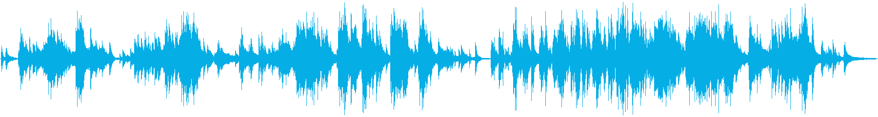 ミステリアな雰囲気のピアノバラードの再生済みの波形