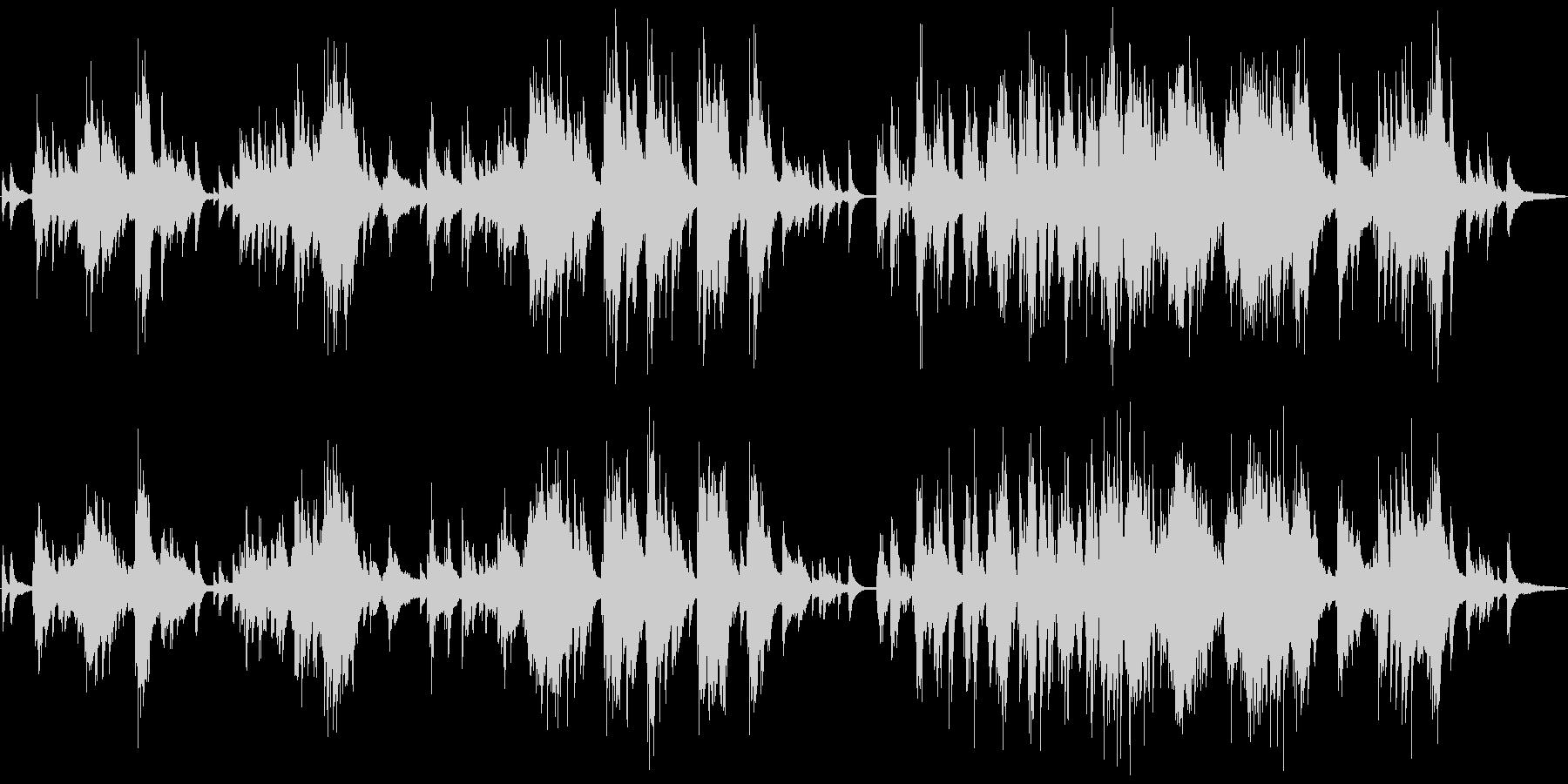 ミステリアな雰囲気のピアノバラードの未再生の波形