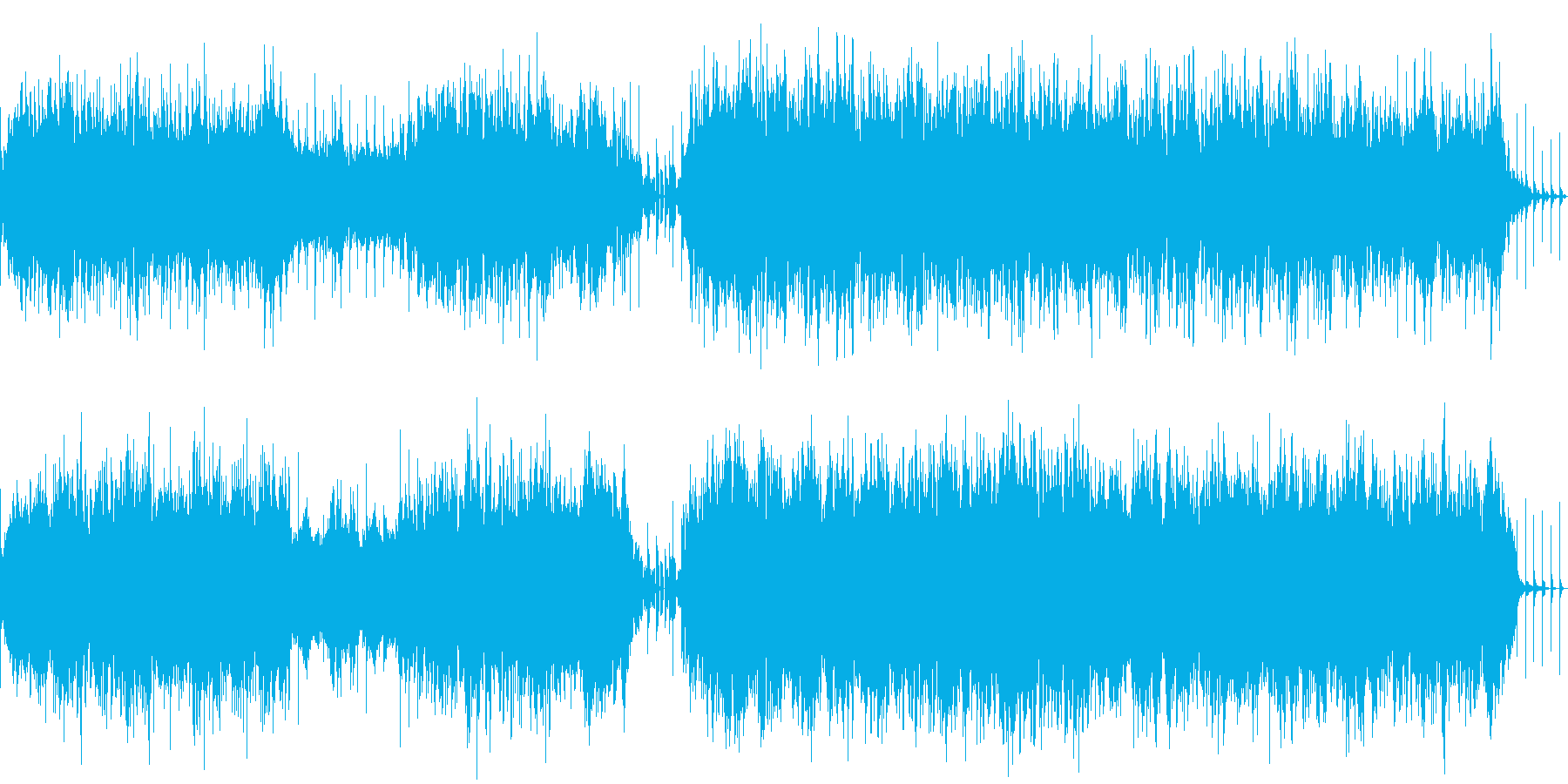 ループ仕様ダンジョン系湿った雰囲気BGMの再生済みの波形