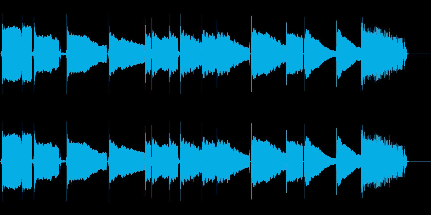 チューナーを利用したギターのチューニングの再生済みの波形