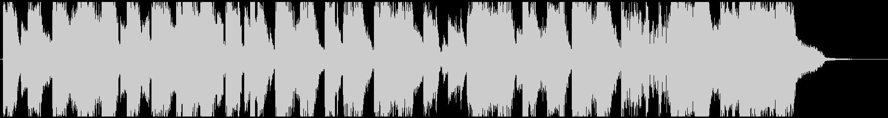 サイバーな生録サックス入りEDMジングルの未再生の波形