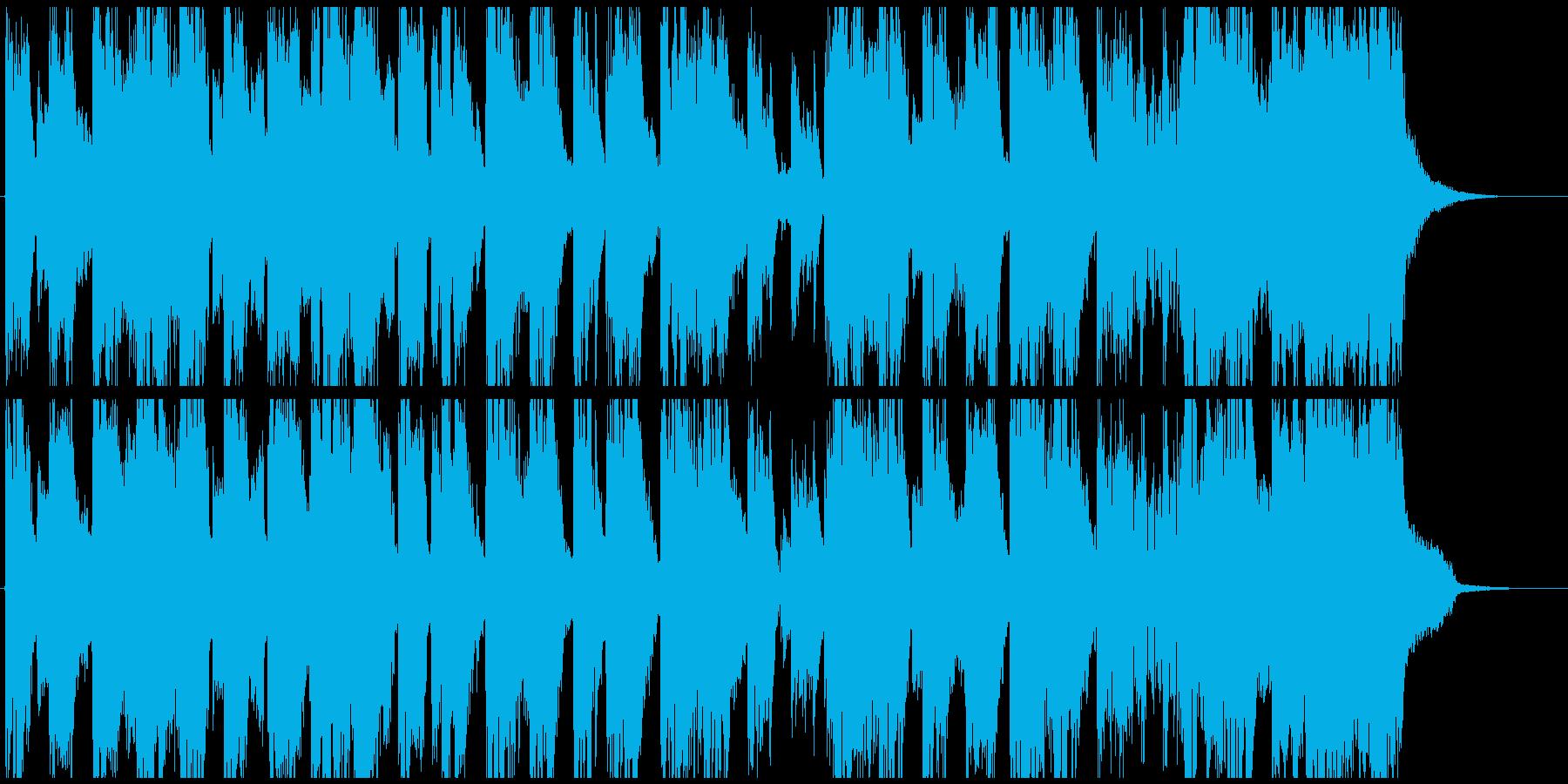 サイバーな生録サックス入りEDMジングルの再生済みの波形