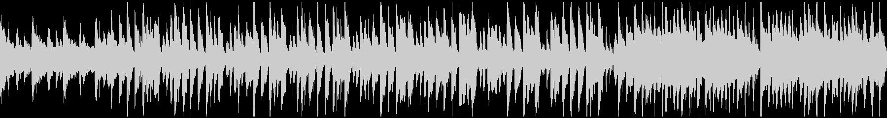 ウクレレ、夕暮れ、ハワイ ※ループ仕様版の未再生の波形