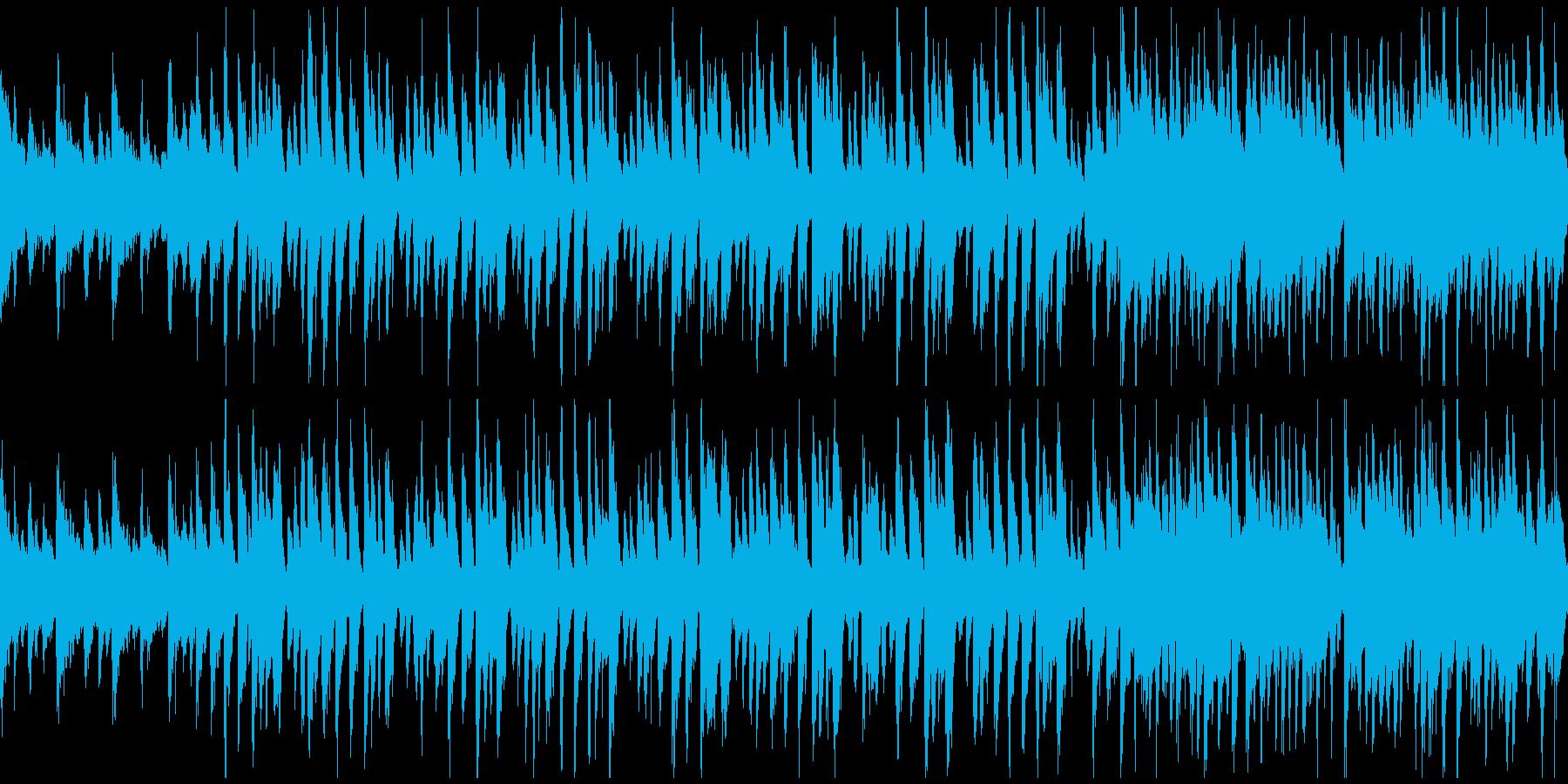 ウクレレ、夕暮れ、ハワイ ※ループ仕様版の再生済みの波形