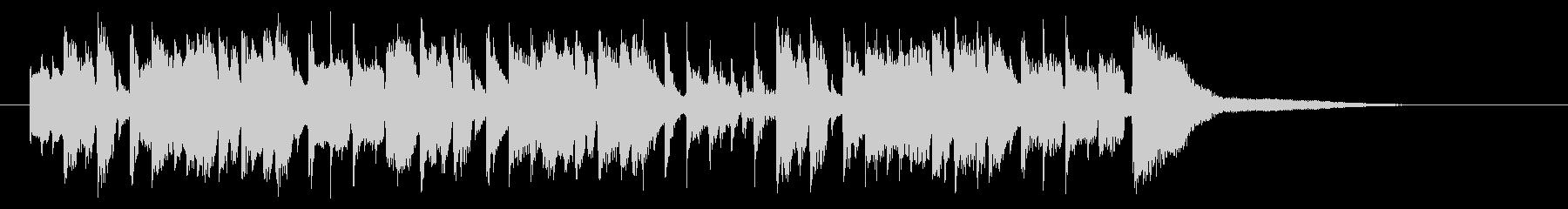 躍動感ある可憐なピアノポップジングルの未再生の波形