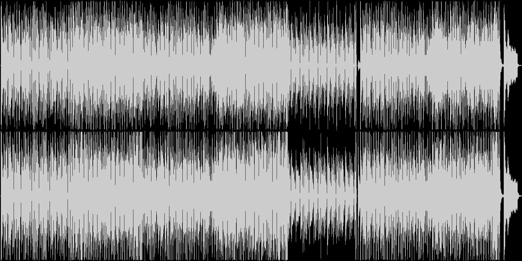クールなジャズファンクトラックの未再生の波形