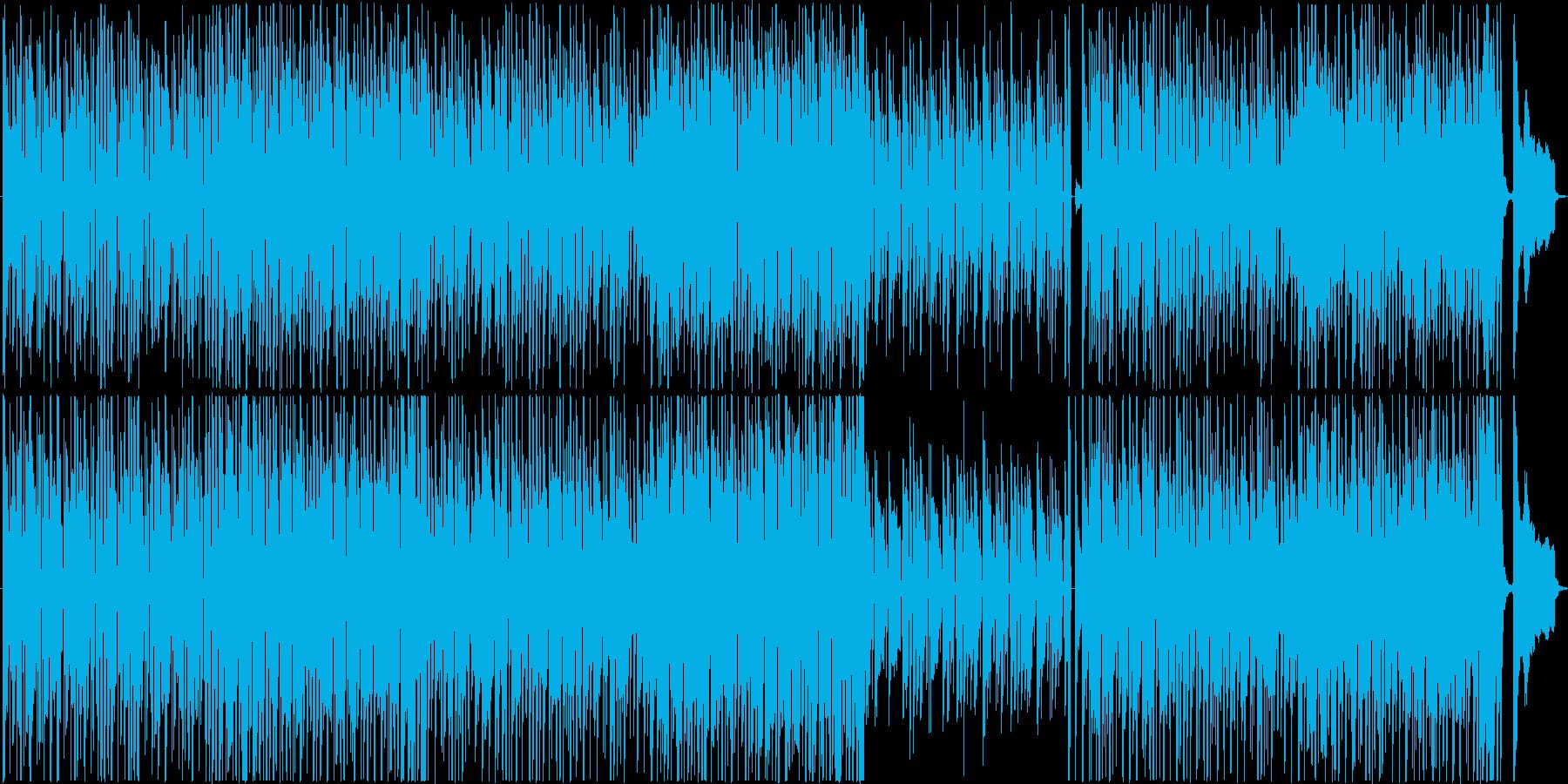 クールなジャズファンクトラックの再生済みの波形