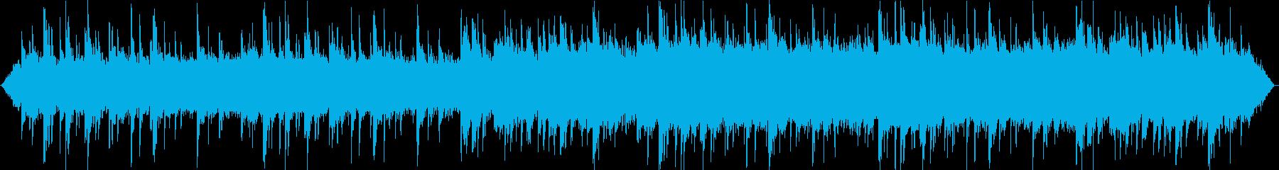夜の森とピアノが印象的なヒーリング音楽の再生済みの波形