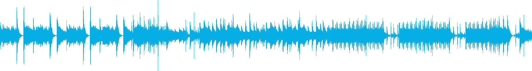 カジノトランプゲームBGM(ループ)の再生済みの波形