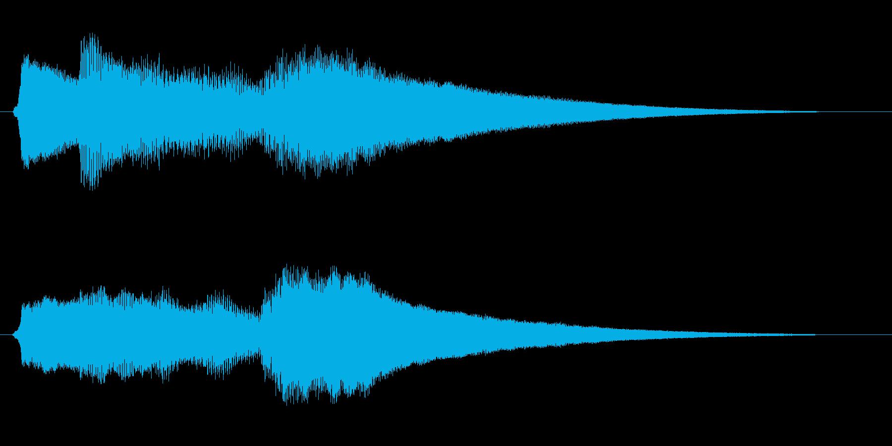 ミステリー&ホラー・発見・導入音1の再生済みの波形