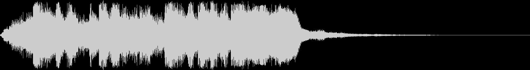 オープニング向け派手な金管ファンファーレの未再生の波形