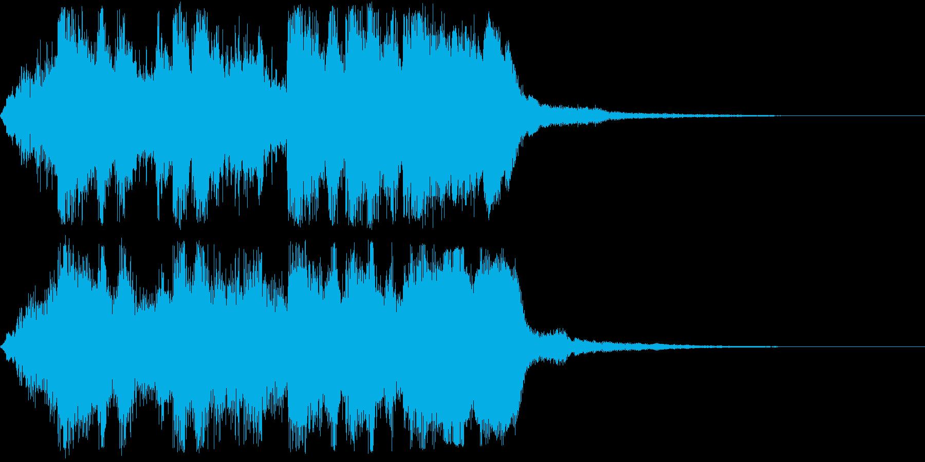 オープニング向け派手な金管ファンファーレの再生済みの波形