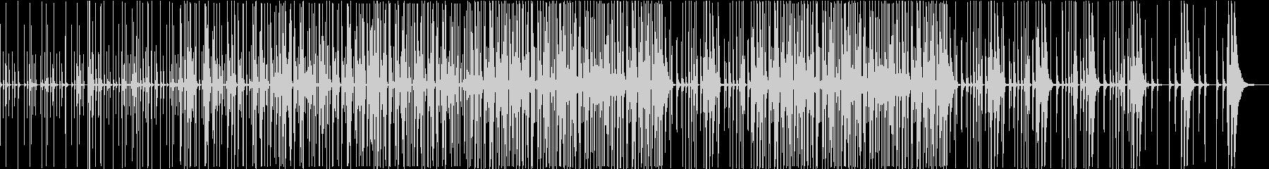 身の周りの音で作ったリズムのみのBGMの未再生の波形