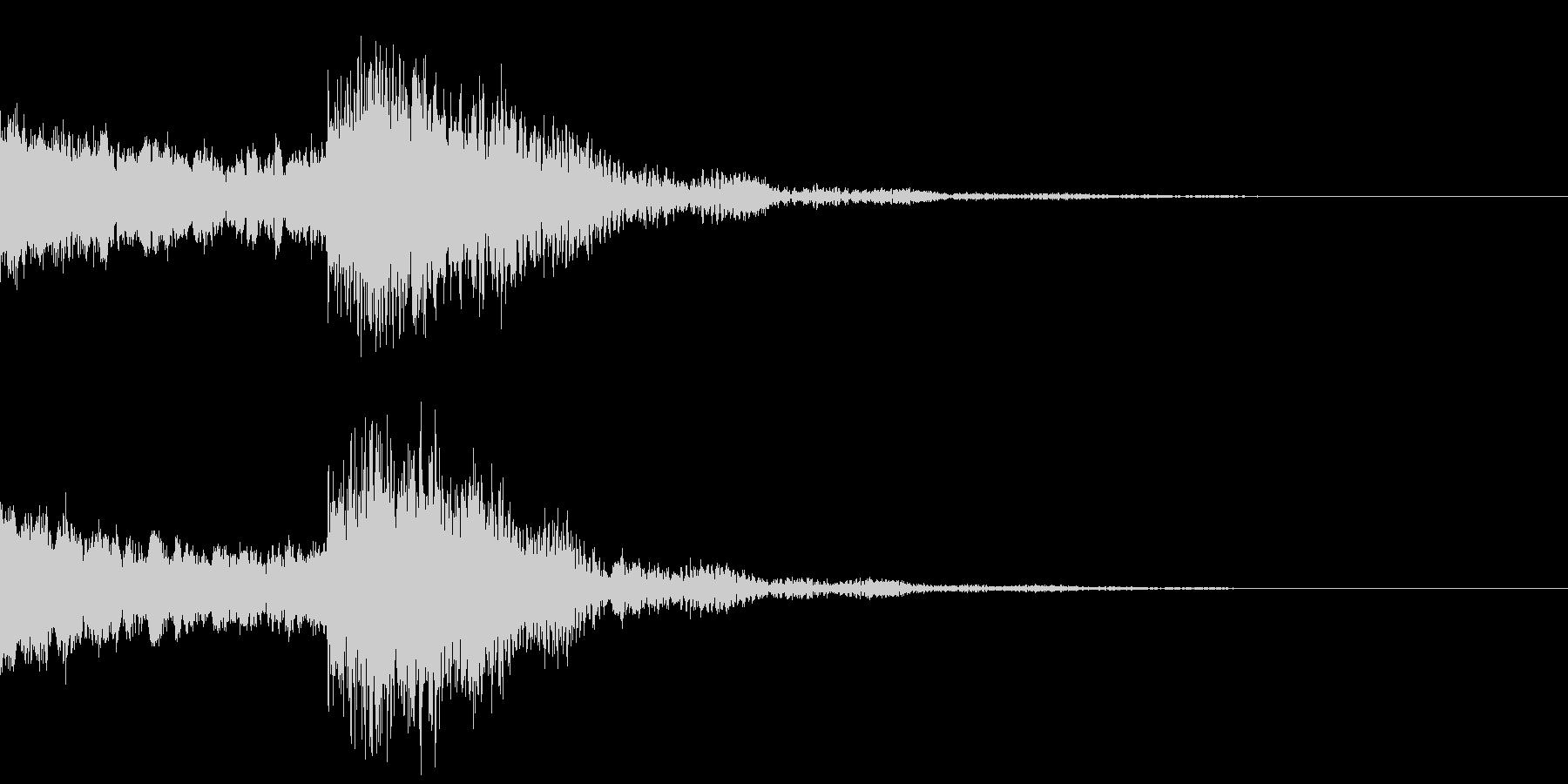 太鼓と尺八の和風インパクトジングル!13の未再生の波形