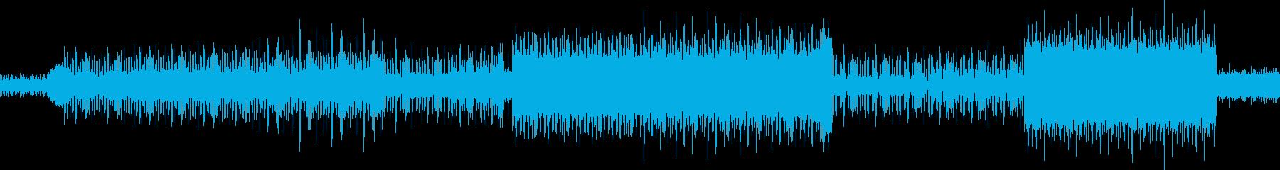 ハードに攻めるDubstepの再生済みの波形