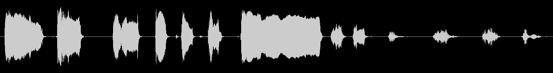さまざまなラクダのうなり声の未再生の波形