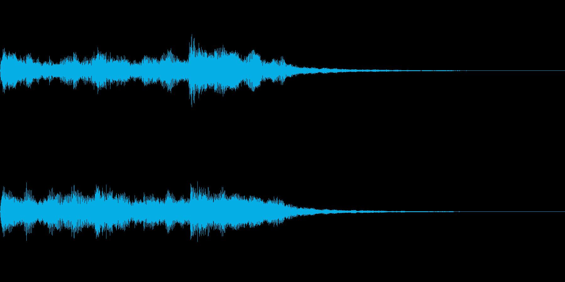 ジングル サウンドロゴ 店舗用チャイムの再生済みの波形