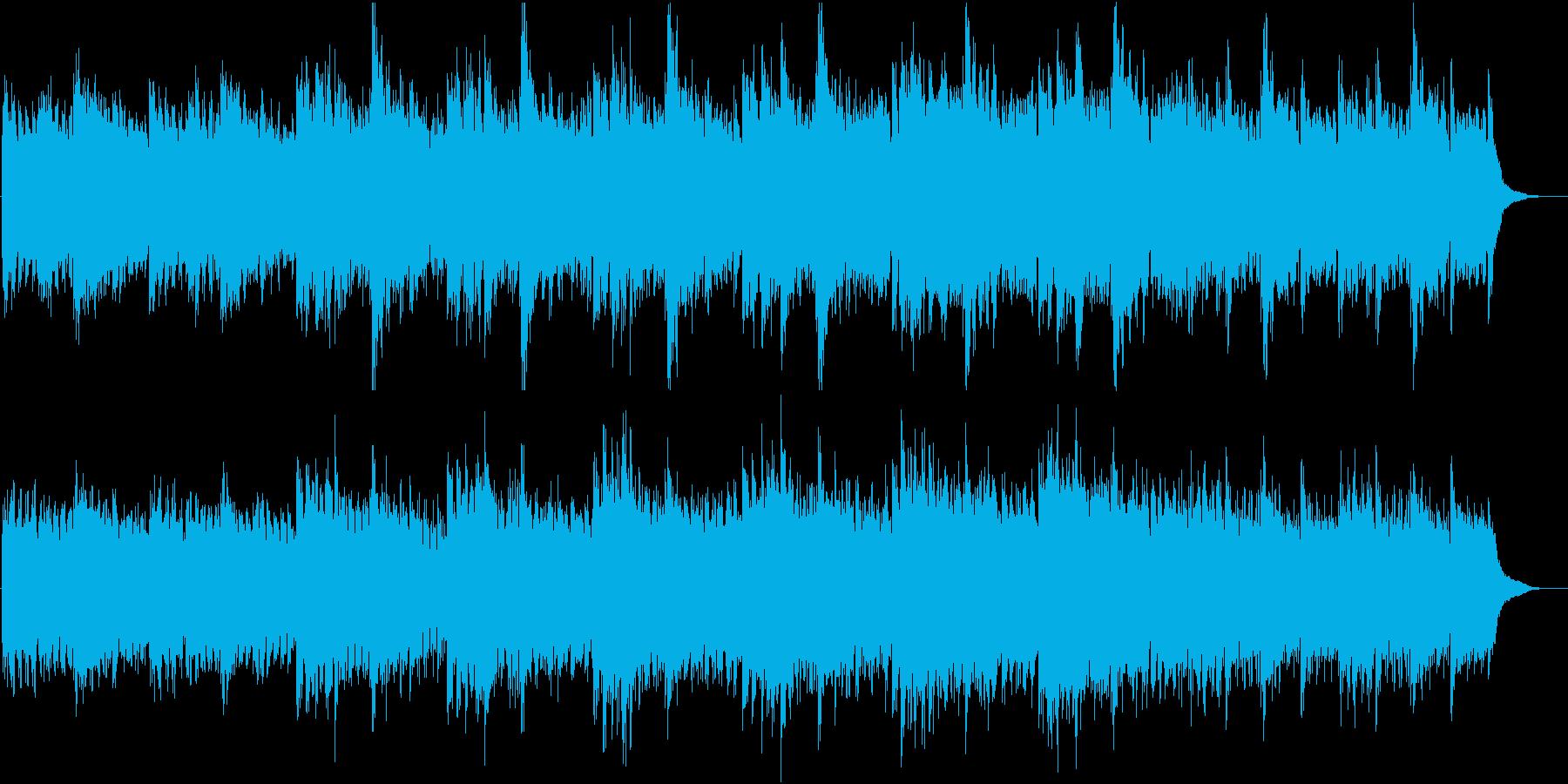 ドキュメンタリー向けピアノとストリングの再生済みの波形