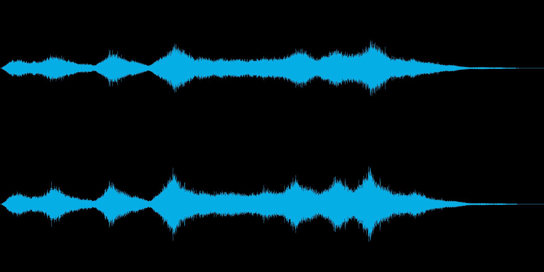 「ザザ〜ッ、シャ〜」大海原の中波のSEの再生済みの波形
