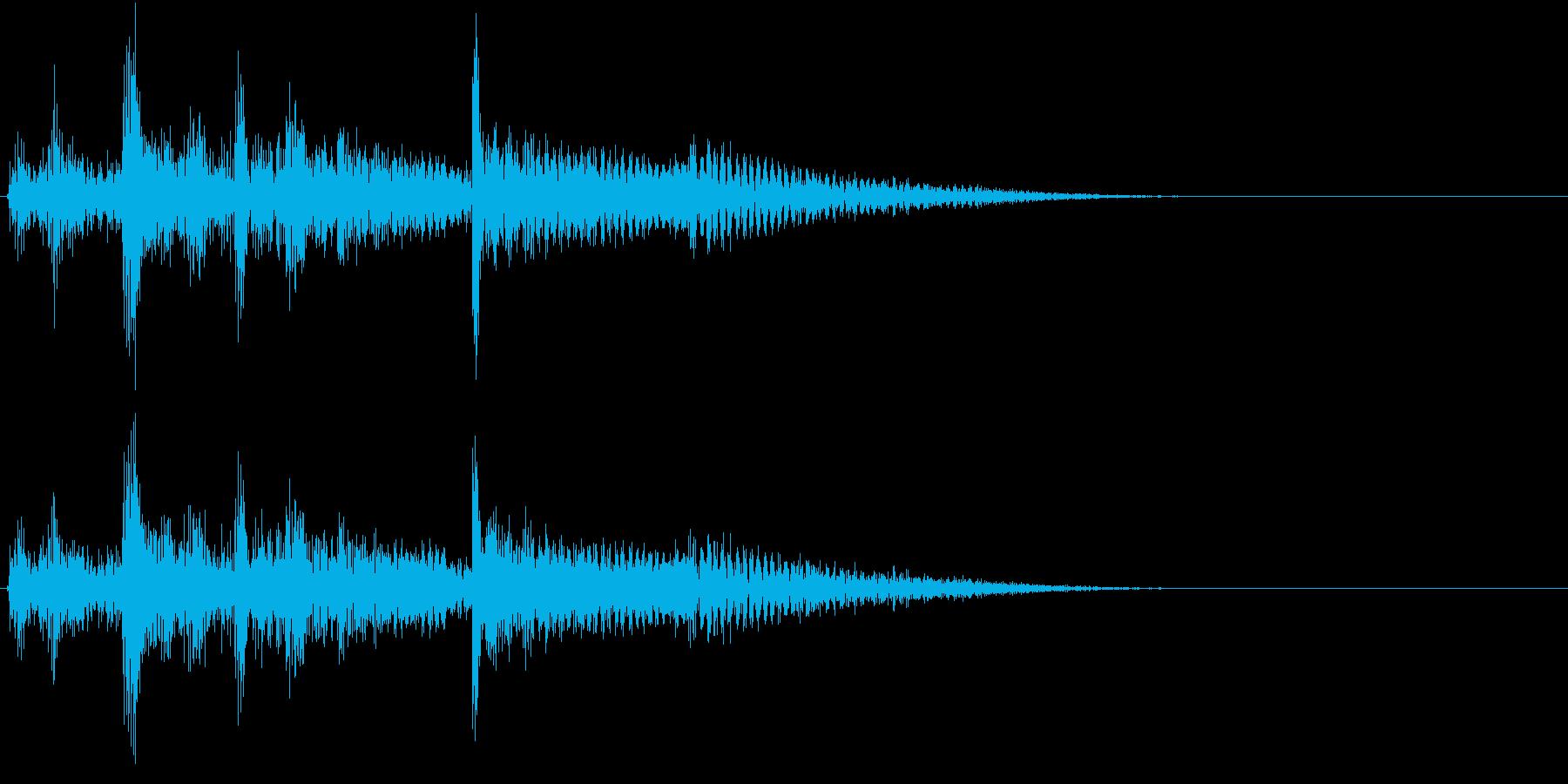 【生録音】お箸の音 29 丼の上に放るの再生済みの波形