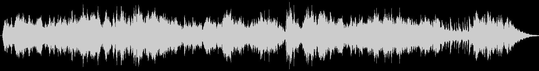 キラキラと輝く音色のメロディーの未再生の波形