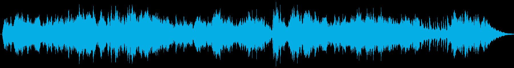 キラキラと輝く音色のメロディーの再生済みの波形