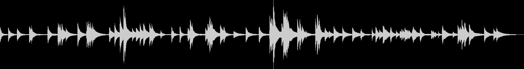 優しくて切ないピアノ曲の未再生の波形