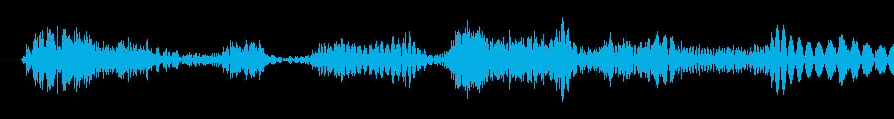 巻き戻し1の再生済みの波形
