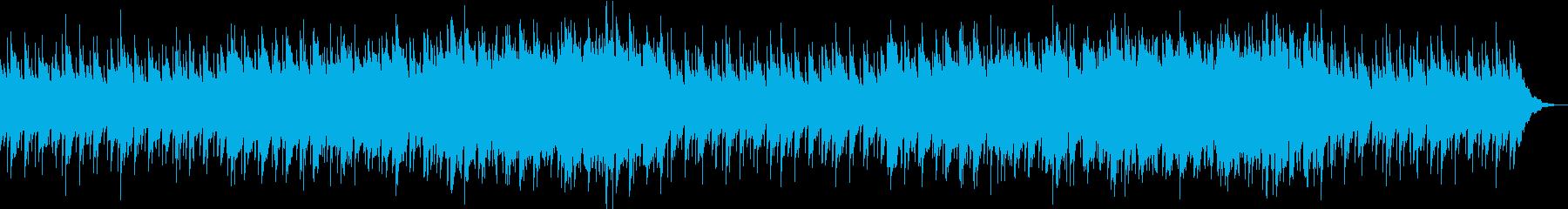 アコースティックギターの睡眠導入BGMの再生済みの波形
