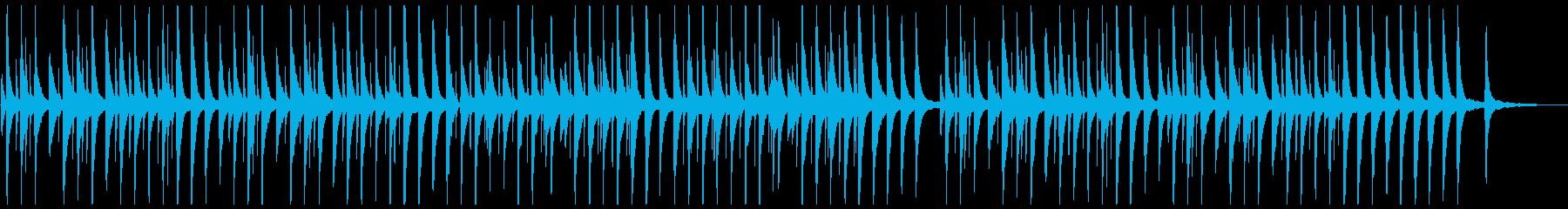 ピアノ、優しく懐かしいオルゴール風の再生済みの波形