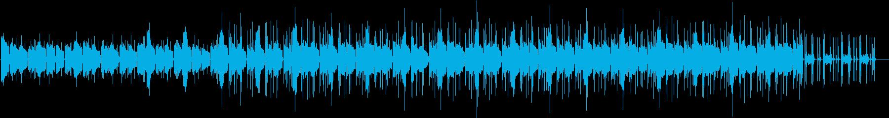 同じフレーズが繰り返される無機質な曲の再生済みの波形