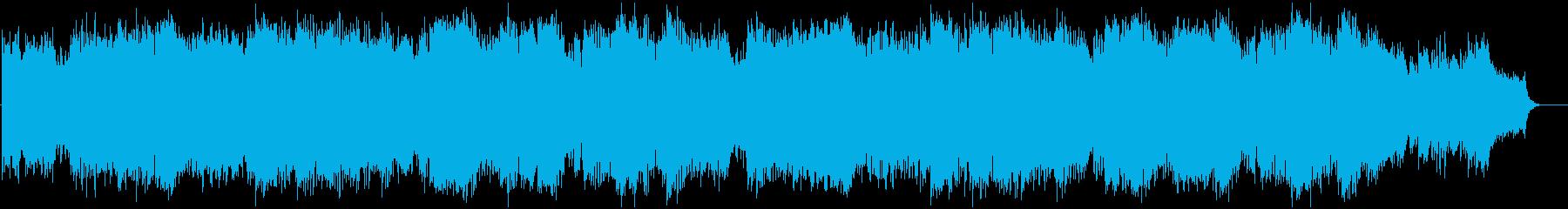 緩やかに流れるようなフルート曲の再生済みの波形