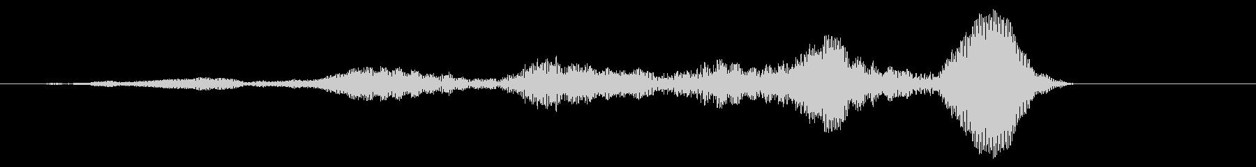 ショートディープホローロービルドアップの未再生の波形