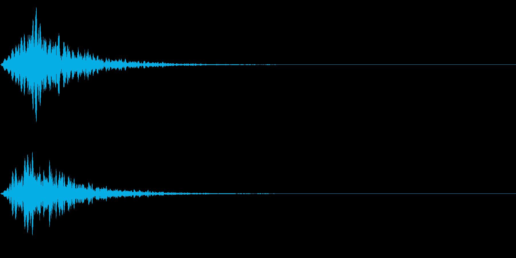 ゲームスタート、決定、ボタン音-076の再生済みの波形
