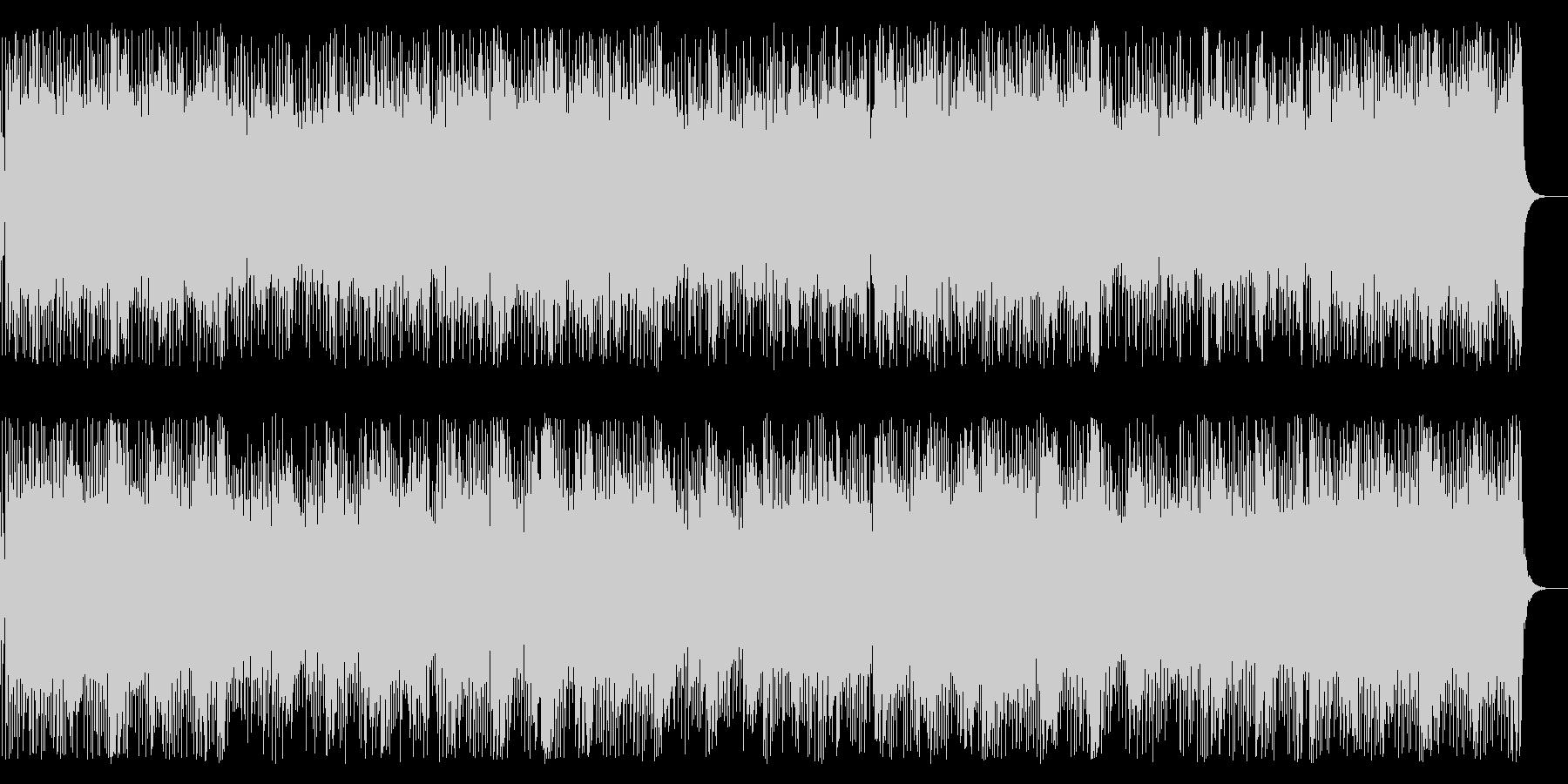 企業VP・疾走感あるピアノ&エレキギターの未再生の波形