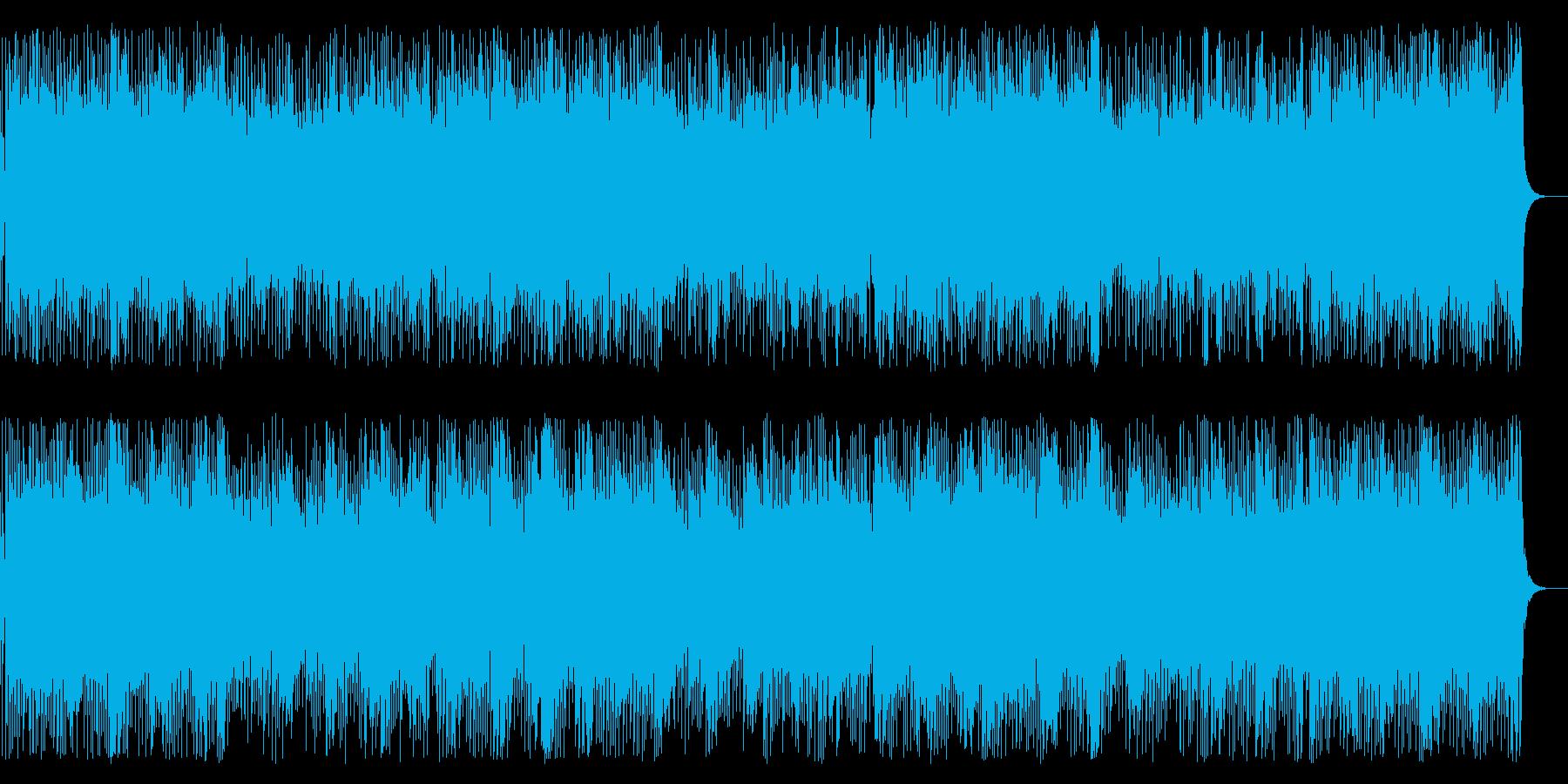 企業VP・疾走感あるピアノ&エレキギターの再生済みの波形